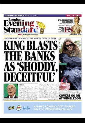 London's Newspaper – The Evening Standard – Is Now free on the iPad!