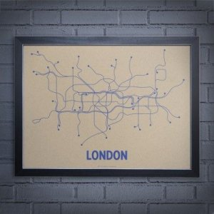 Minimalist London Tube Network Map
