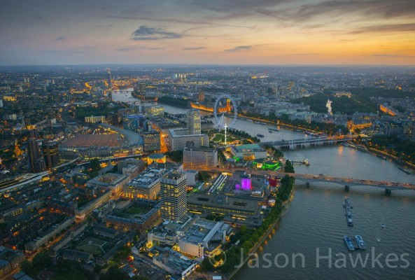 Photo: Amazing Photo of London's Southbank by Photographer Jason Hawkes