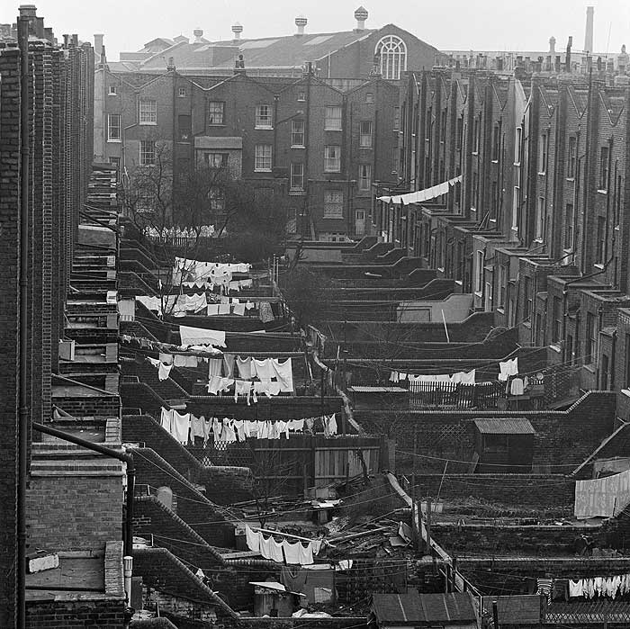 Photo: Terraced Backyards in Islington in the 1960's