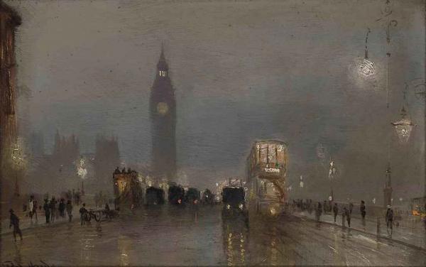 Great London Art: Big Ben over Westminster Bridge by George Hyde Pownall