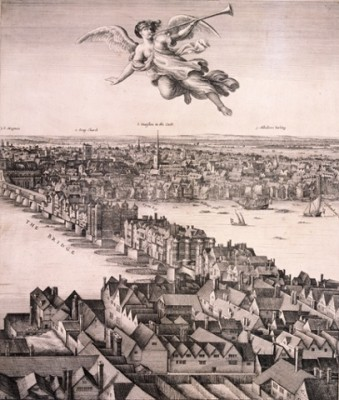 A panoramic view of London, c.1670 by Wenceslaus Hollar.