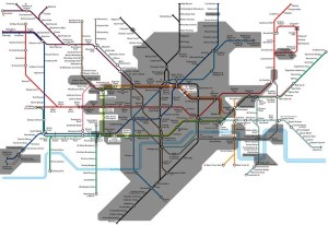 The Tube: Ever Wonder How Much of the London Underground is Actually Underground? This Map Will Tell You