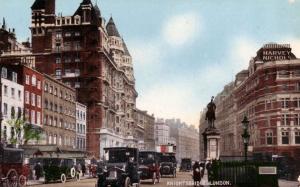 History: Beautiful Old Color Postcard of Knightsbridge in London in 1916