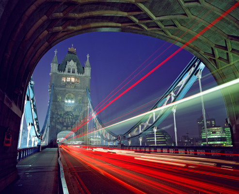 London Photo: A Lovely Photo of Tower Bridge in London At Night For Your Desktop Wallpaper