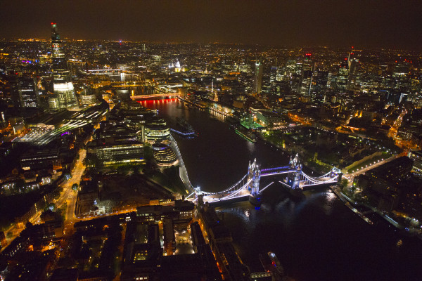 Photo: A Lovely Aerial Photo of London Taken At Night For Your Desktop Wallpaper