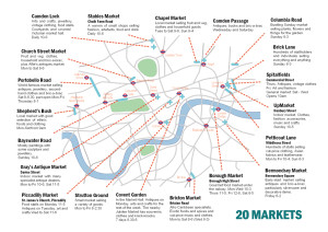 Street Markets of London: Handy Printable Map Guides You To London's Best 20 Markets – Which is Your Favorite?