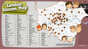 London Telly: The London Sitcom Map – Which is Your Favorite?
