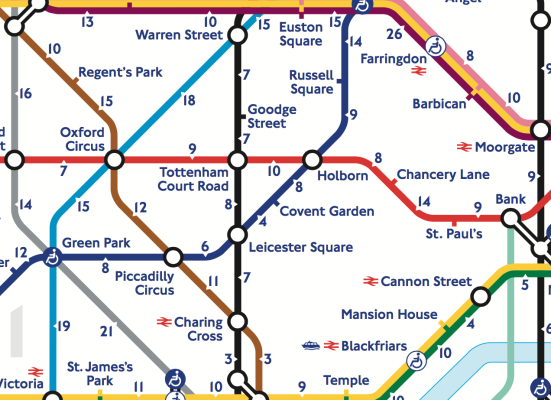 The Tube: Transport for London Releases Official Tube Map Featuring Walking Times Between Stations