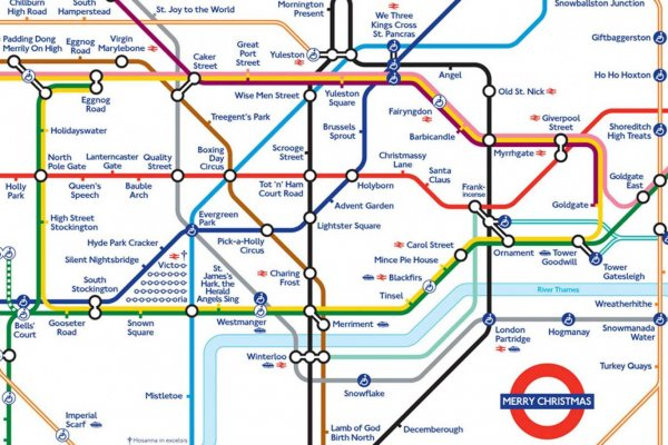 Happy Christmas: The Christmas Tube Map