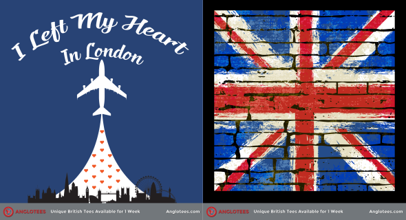 Anglotees Alert: New Designs LIVE – I Left My Heart in London and Grunge UK