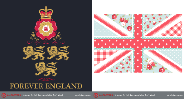 Anglotees Alert: New Designs LIVE – Forever England and Flower Union Jack
