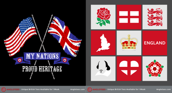 Anglotees Alert: New Designs LIVE – Proud British Heritage and Our England