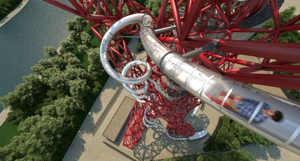 London's Newest Tourist Attraction: The Orbit Slide