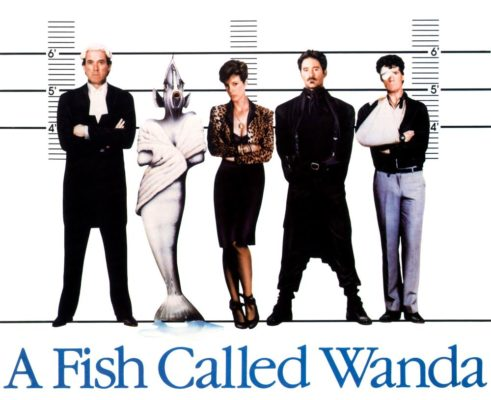 A FISH CALLED WANDA, from left: John Cleese, Jamie Lee Curtis, Kevin Kline, Michael Palin, 1988, © MGM