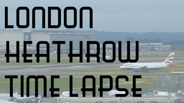London Heathrow Airport Consecutive Departures Timelapse Video