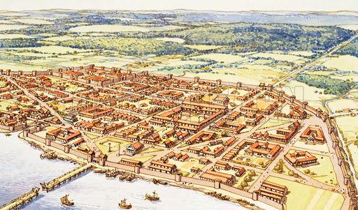 Aerial View of Roman London