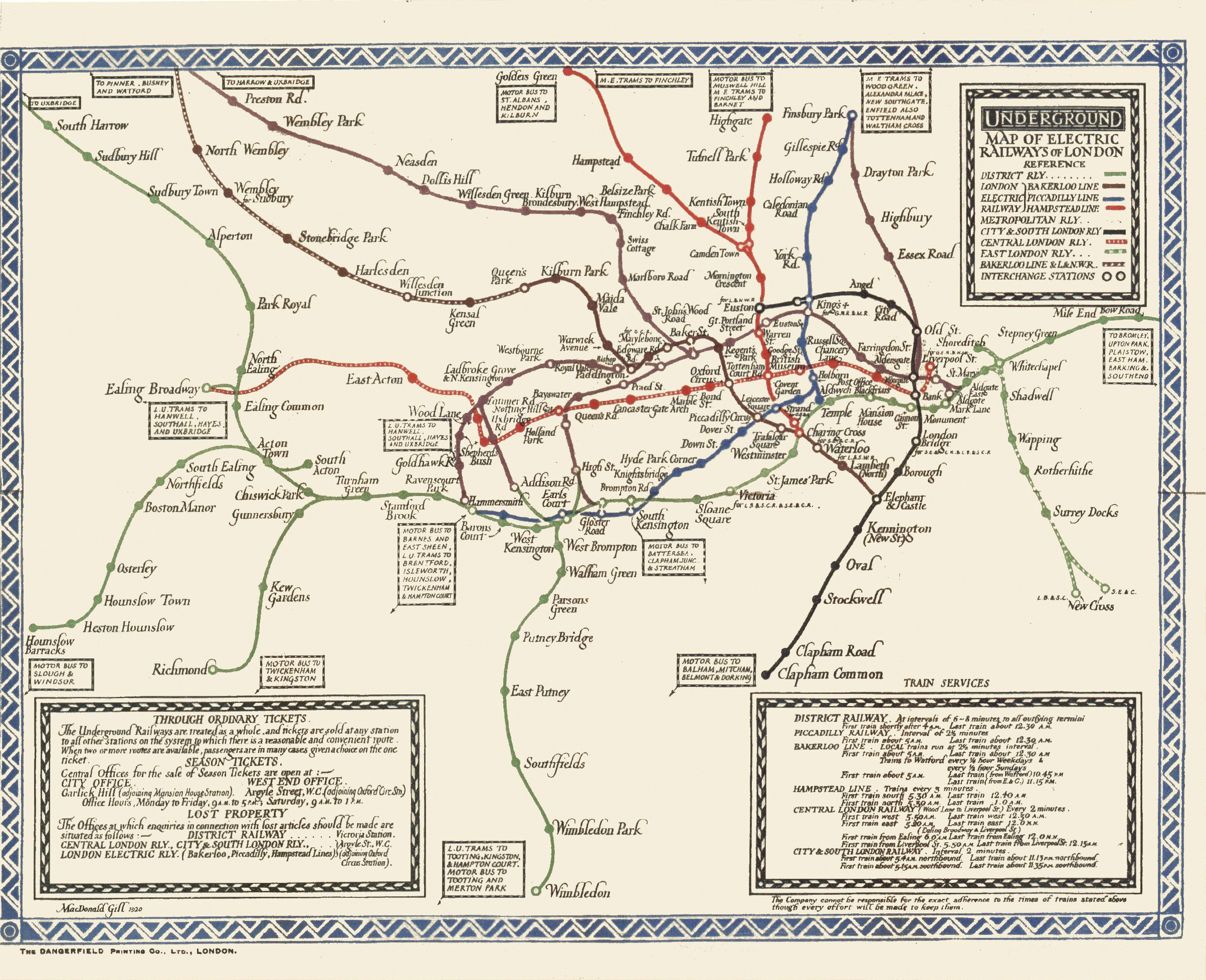 The Tube Map in the 1920's