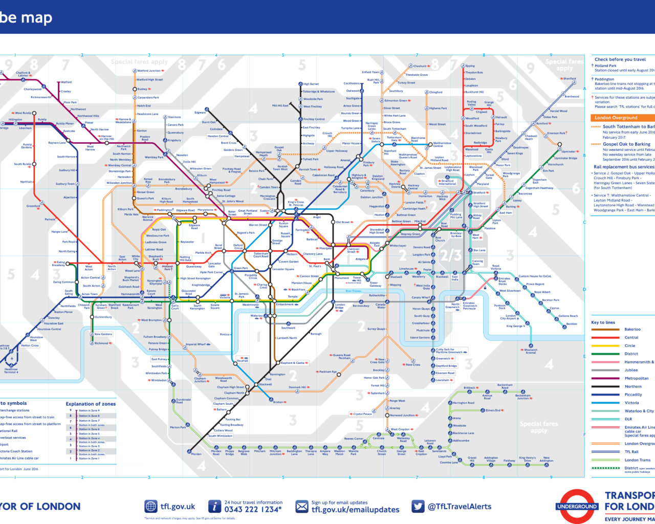 The Tube Map Today