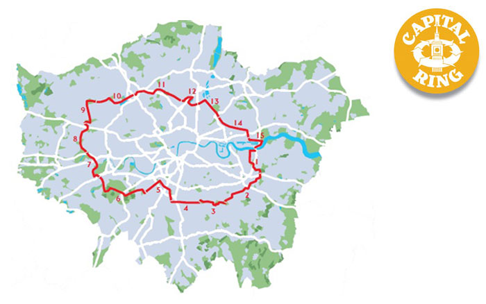 The London Fiver – Five Urban Walking Trails in London