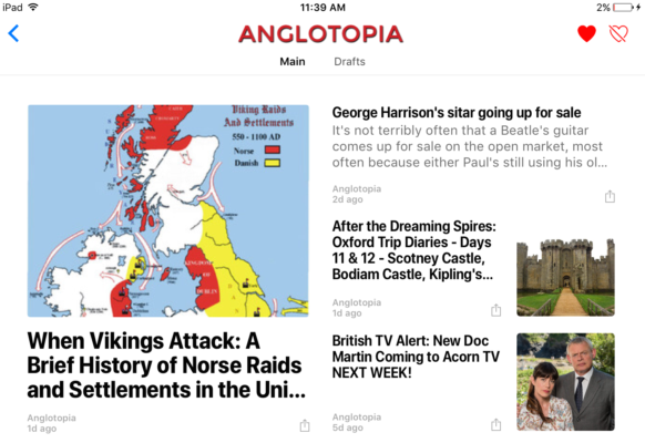 London Alert: You Can Now Read Londontopia and Anglotopia on Apple News