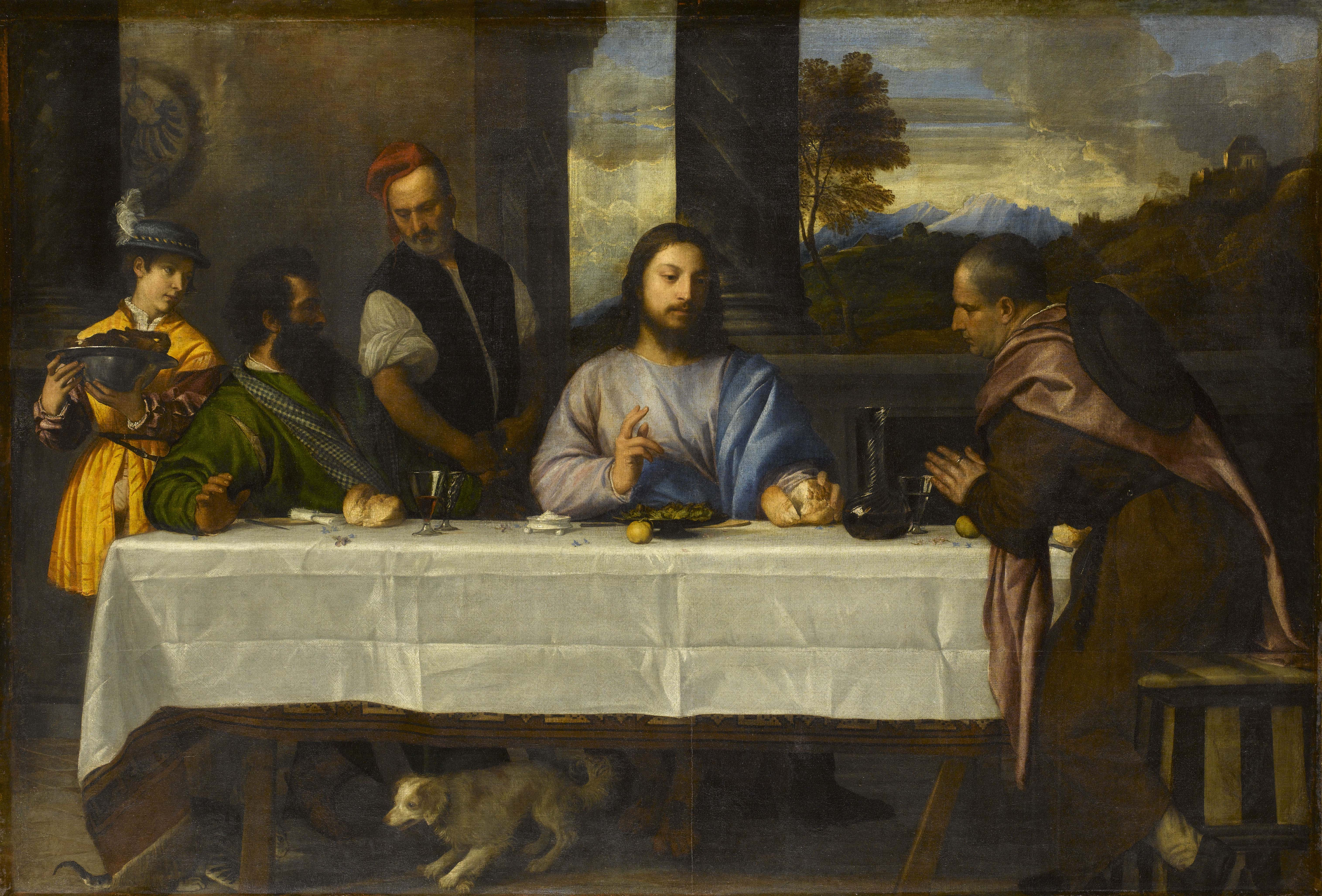 Titian, The Supper at Emmaus, c.1530