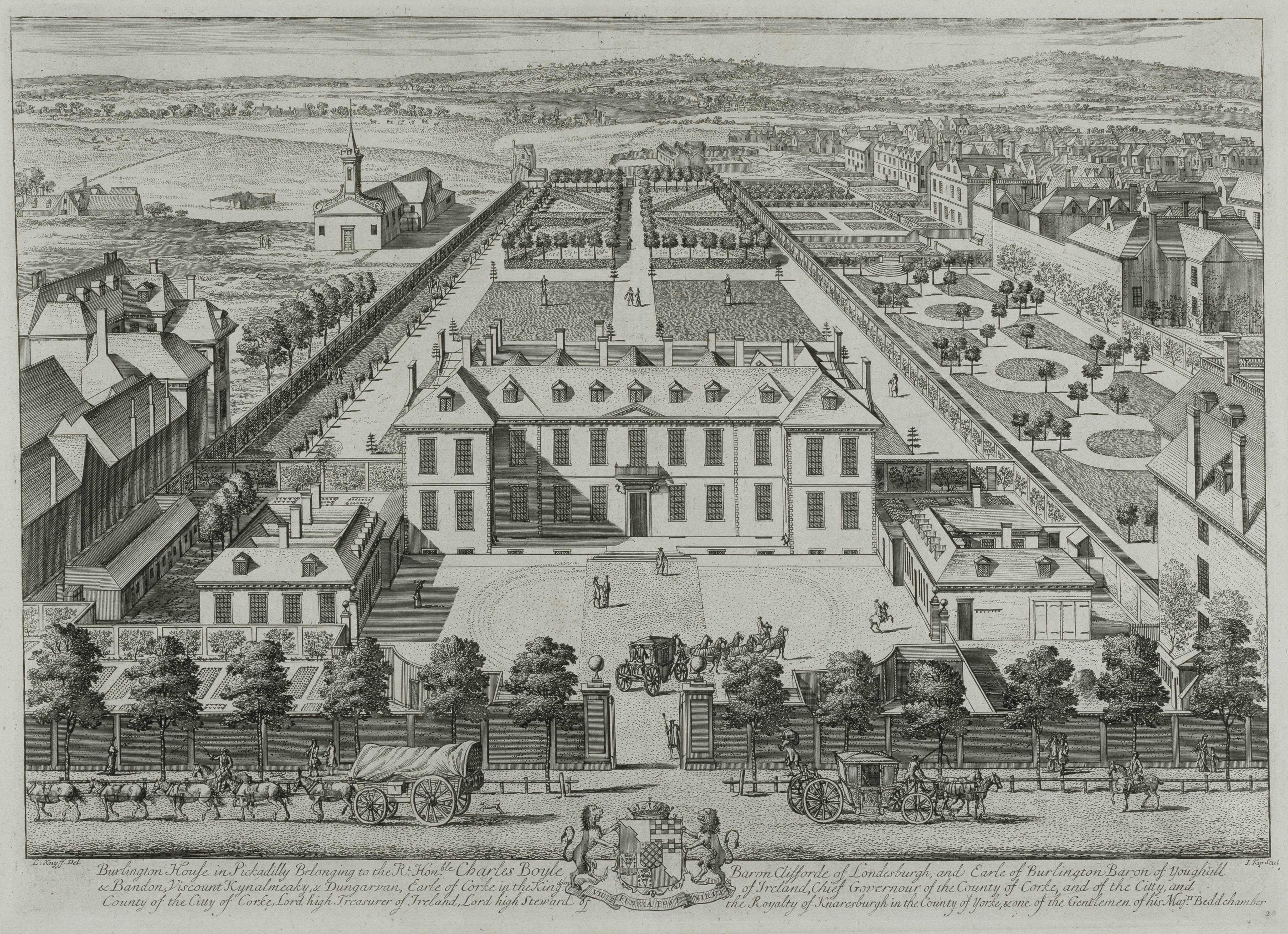 Burlington house in Pickadilly London, 1715