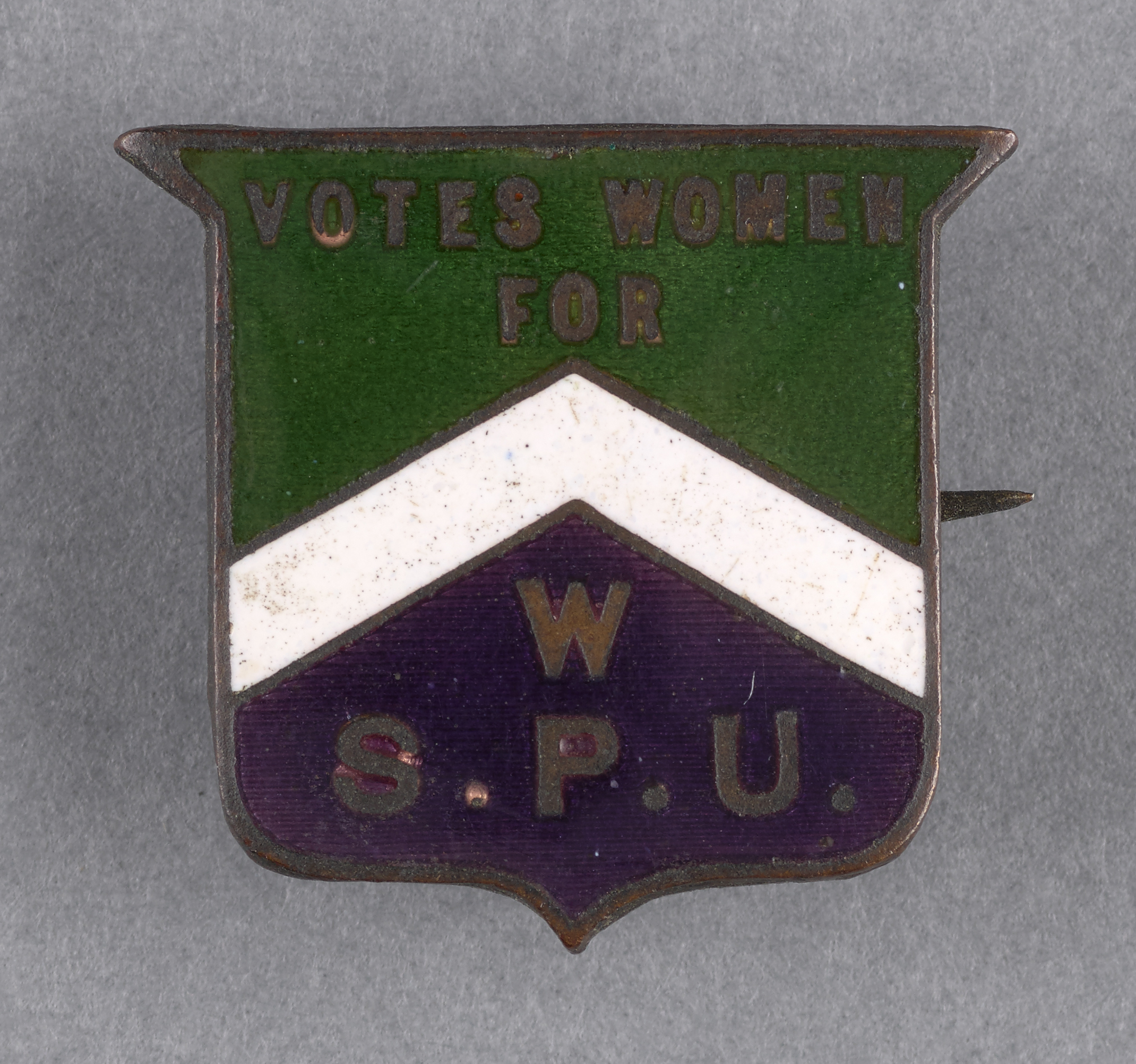 Women's Social & Political Union (WSPU) badge, c.1909