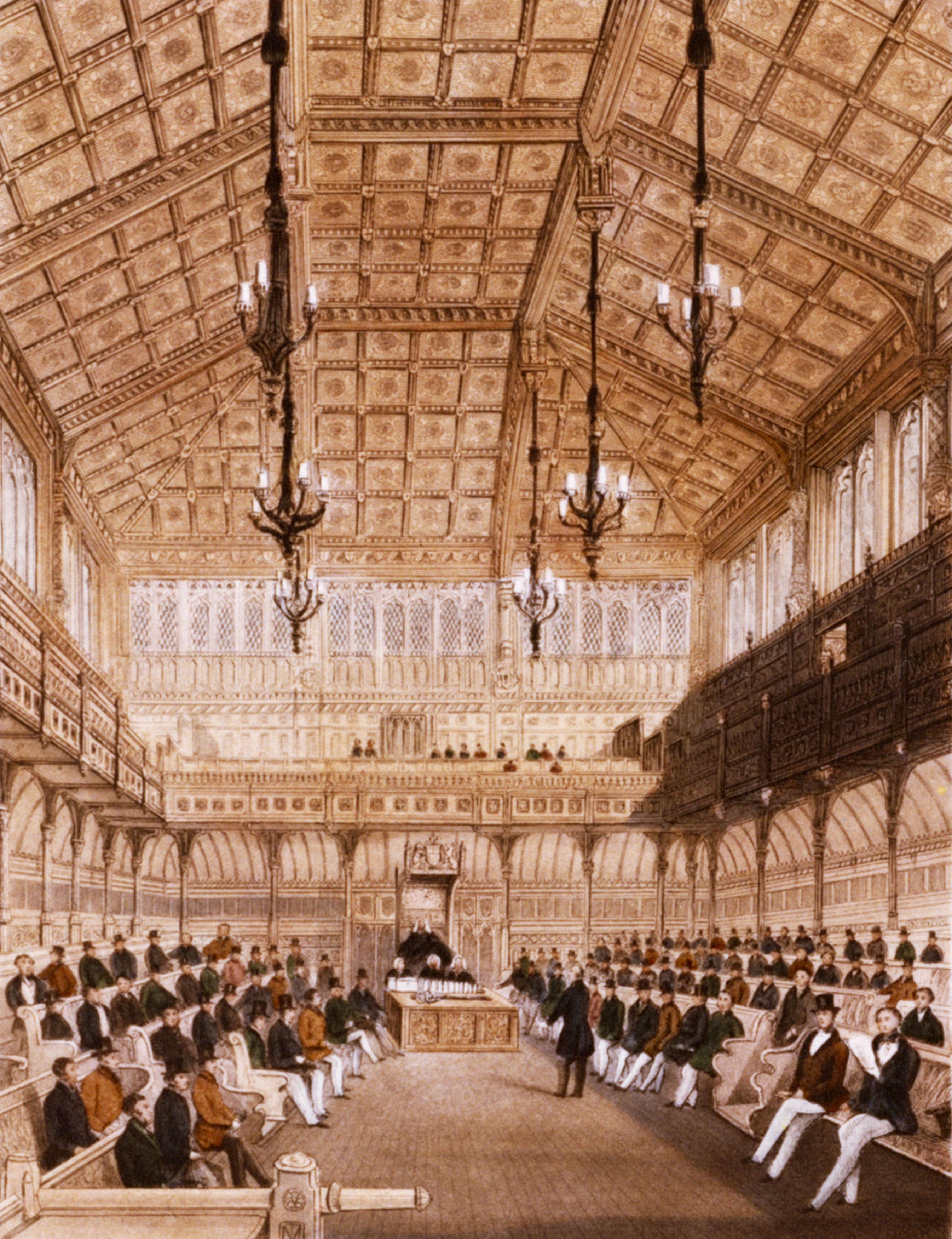 Interior of the House of Commons, 1850