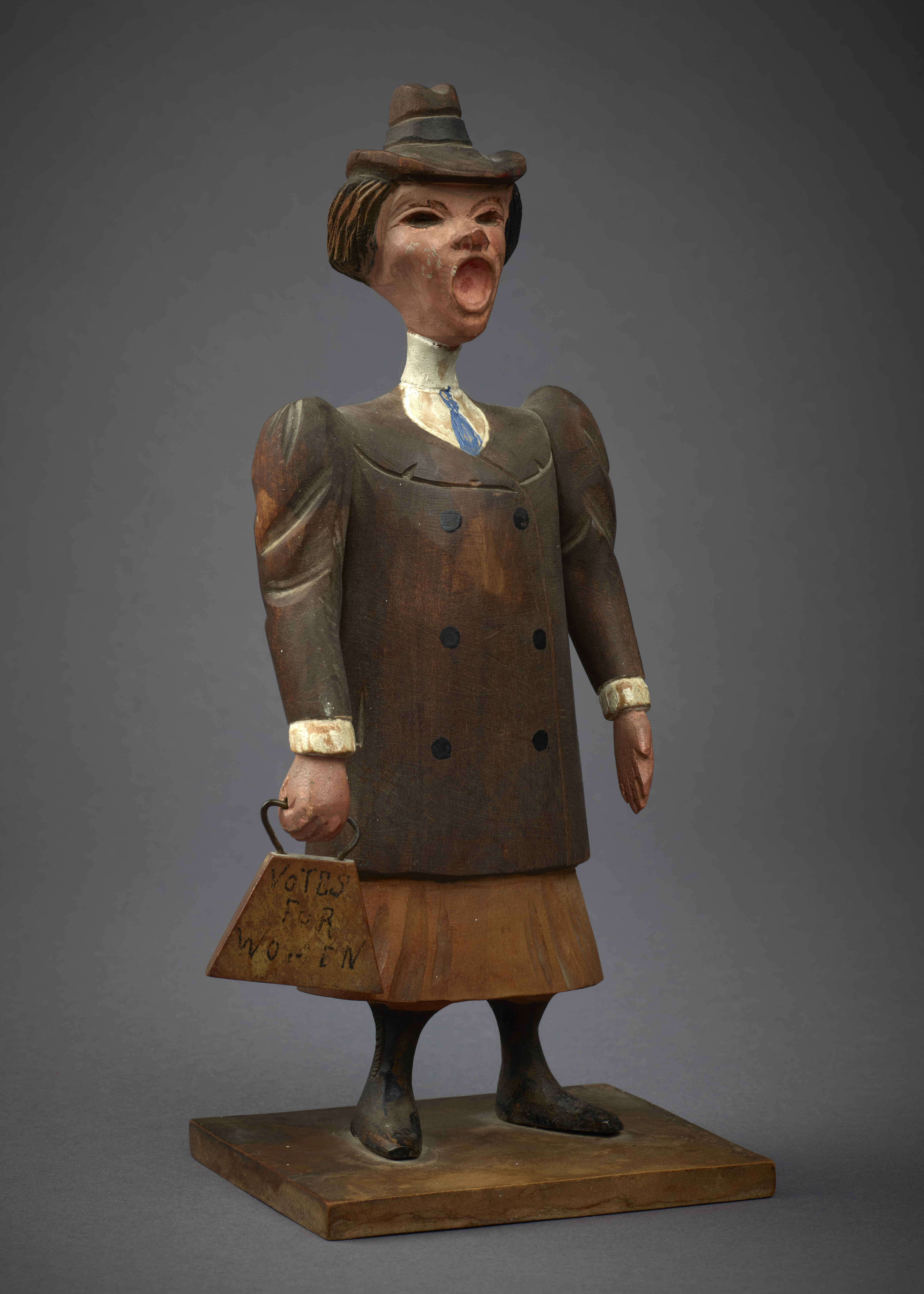 Wooden Suffragette Doll, c. 1912–14