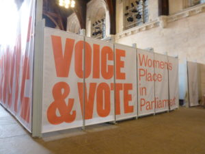 Voice & Vote – Women's Place in Parliament Exhibition at the Palace of Westminster