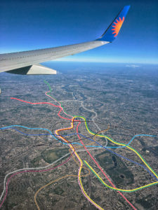 The Tube: Unique Aerial Map of London Showing the Tube Lines in their Geography