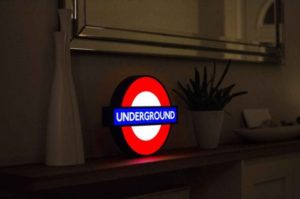 London Alert: New Import Product LIVE – London Underground LED Lightbox