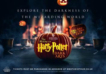 Harry Potter: Explore the Dark Arts This Autumn at the Warner Bros. Studio Tour London