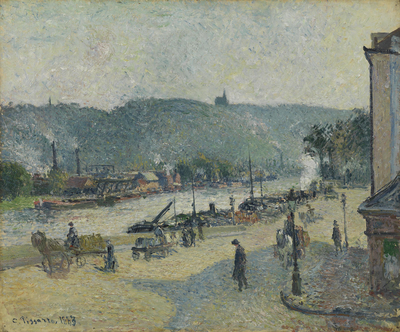 Place Lafayette, Rouen - Camille Pissarro, 1883