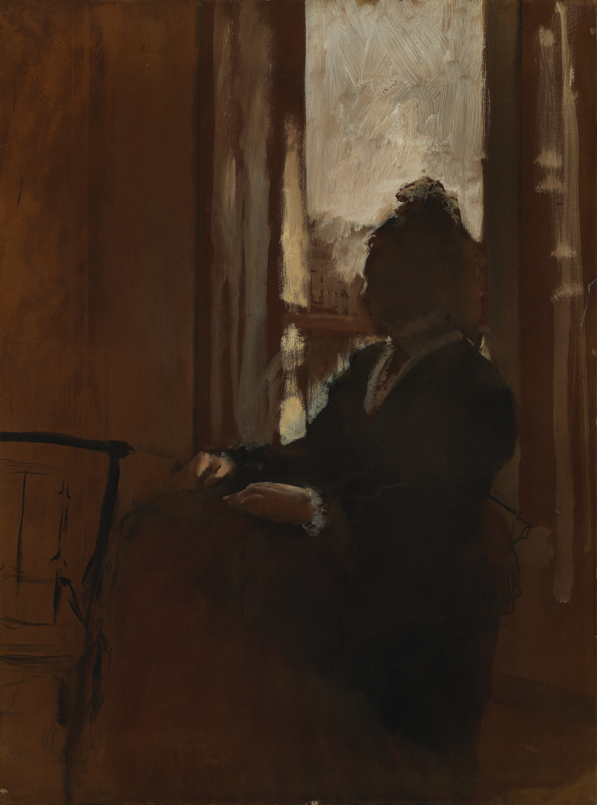 Woman at a Window - Hilaire-Germain-Edgar Degas,1871-72