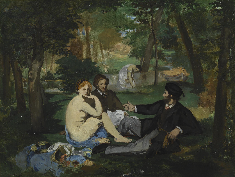 Déjeuner sur l'herbe - Edouard Manet, c. 1863-8