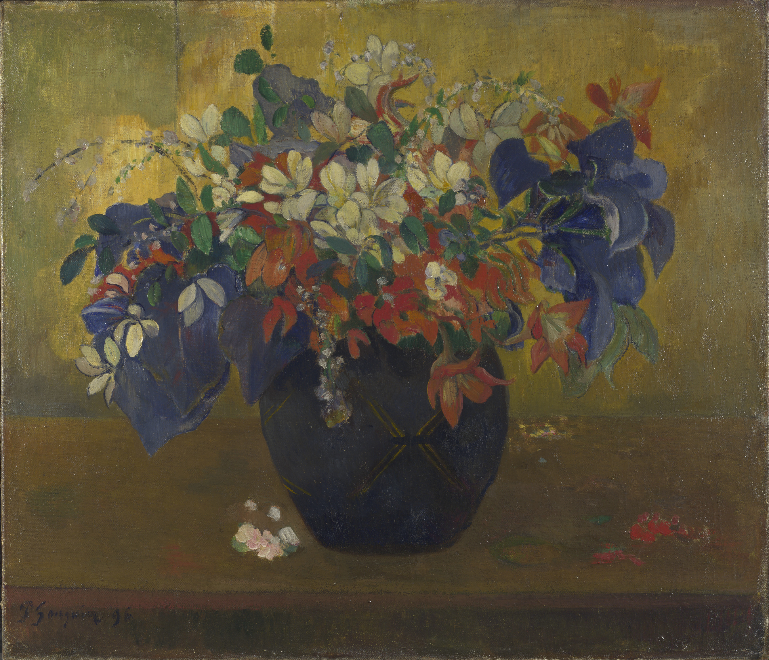 A Vase of Flowers by Paul Gauguin, 1896