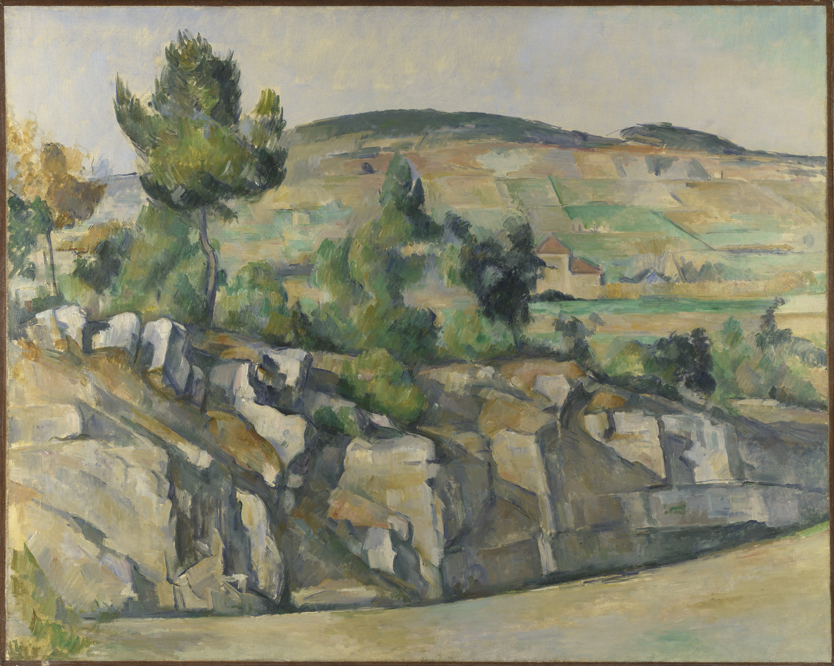 Hillside in Provence - Paul Cézanne, c. 1890-2