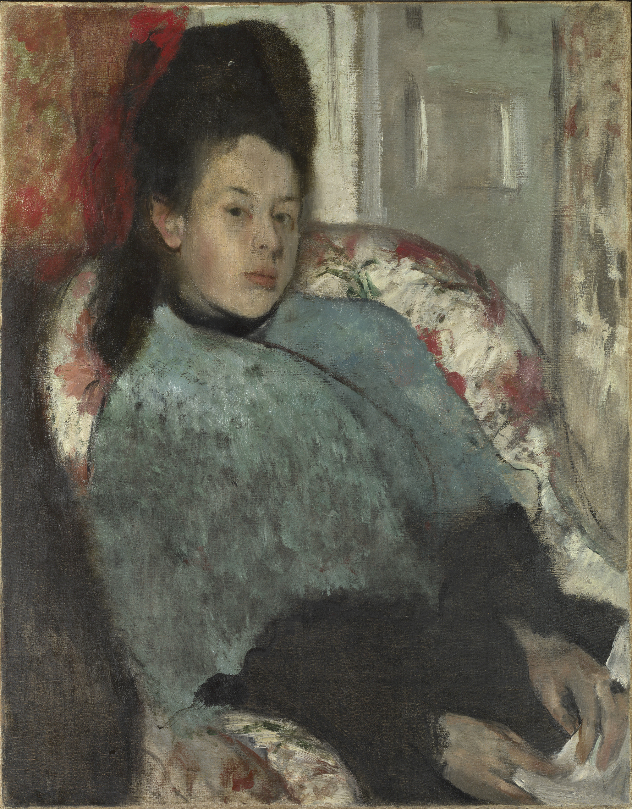 Portrait of Elena Carafa - Hilaire-Germain-Edgar Degas, c. 1875