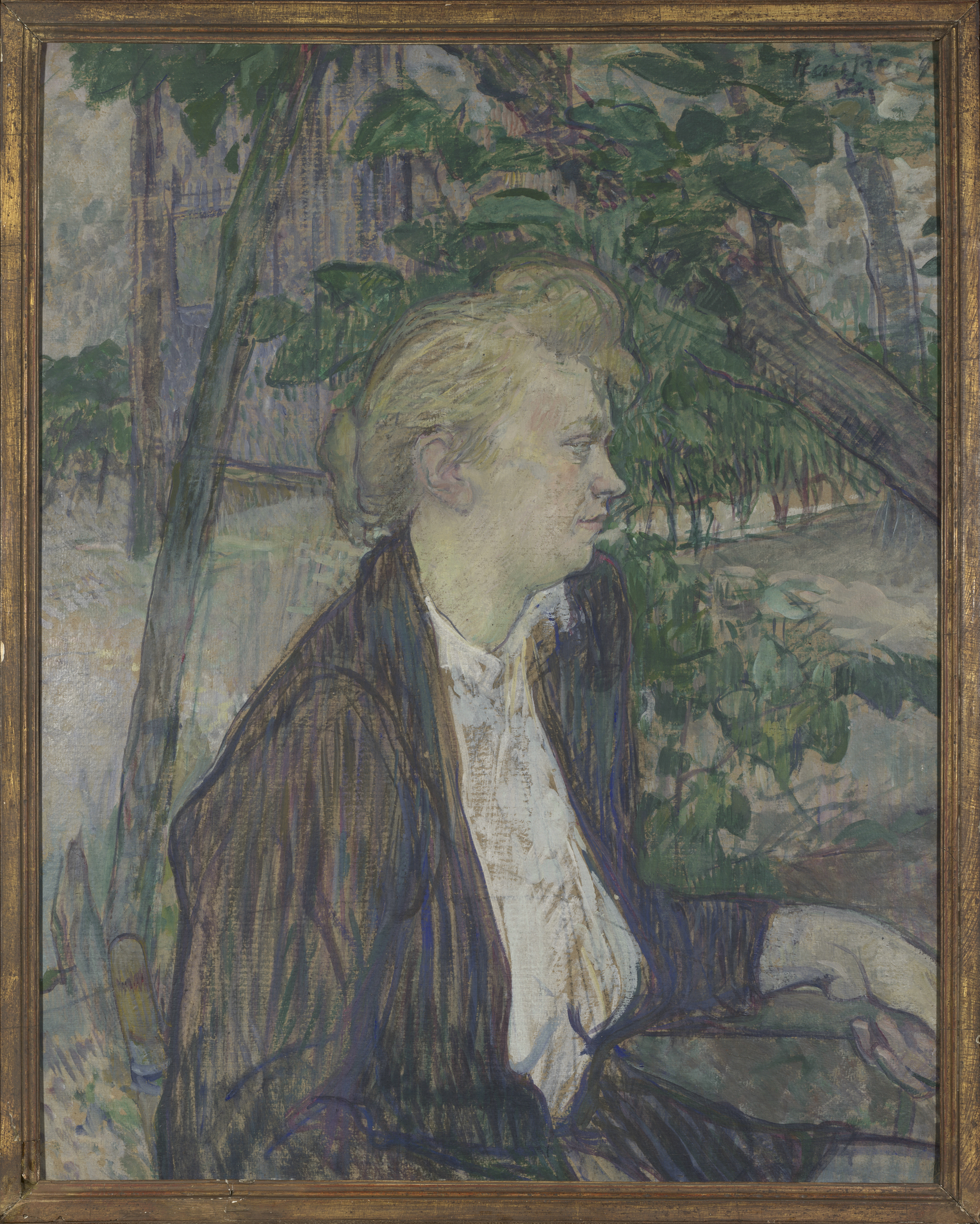 Woman seated in a Garden - Henri de Toulouse-Lautrec, 1891