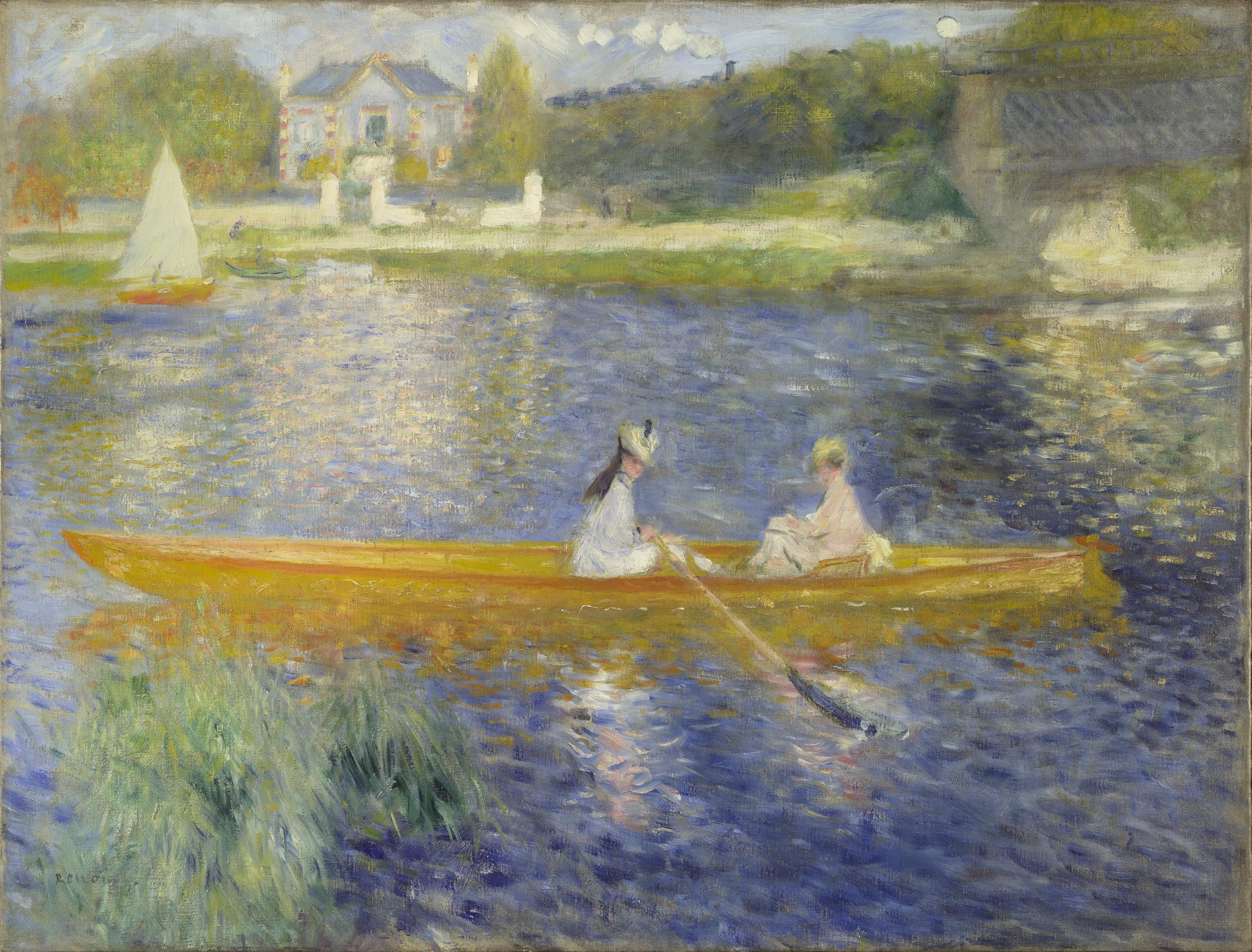 The Skiff (La Yole) - Pierre-Auguste Renoir, 1875