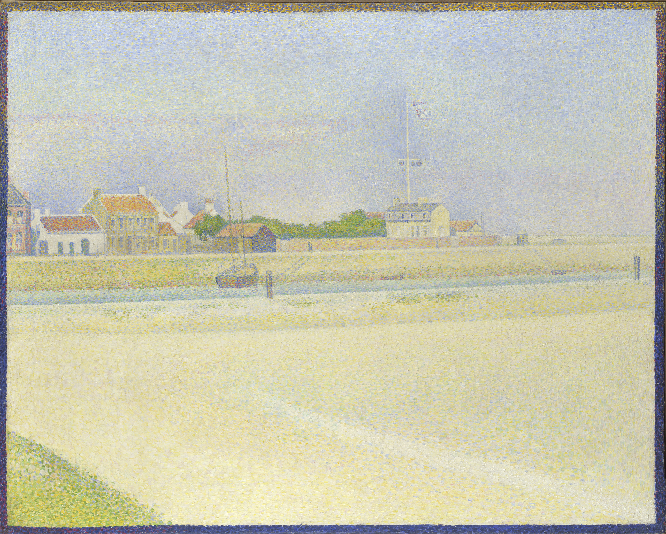 The Channel of Gravelines, Grand Fort-Philippe - Georges Seurat, 1890