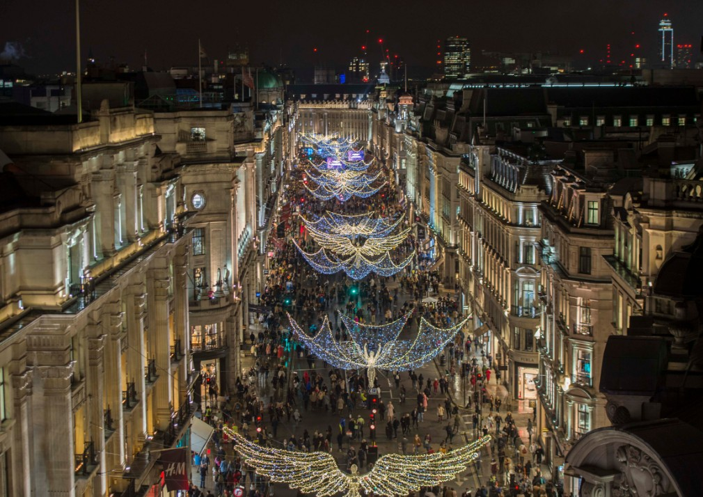 Top Ten London 10 Best Places To Spot Christmas Decorations In