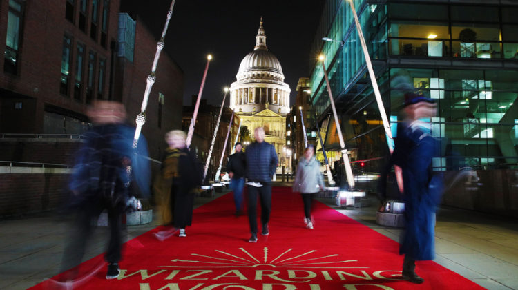 Wands At The Ready! Giant Harry Potter Wands Unveiled On Walk to St Paul's Cathedral