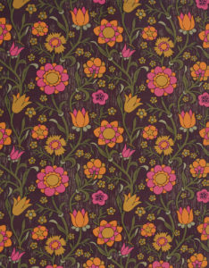 'Master Tuggies' a screen printed cotton textile designed by Gillian Farr for Conran Fabrics, 19634. Private collection. Image(s) taken from ConranQuant Swinging