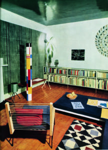 The flat of Colin St John Wilson, architect of the British Library, 1952