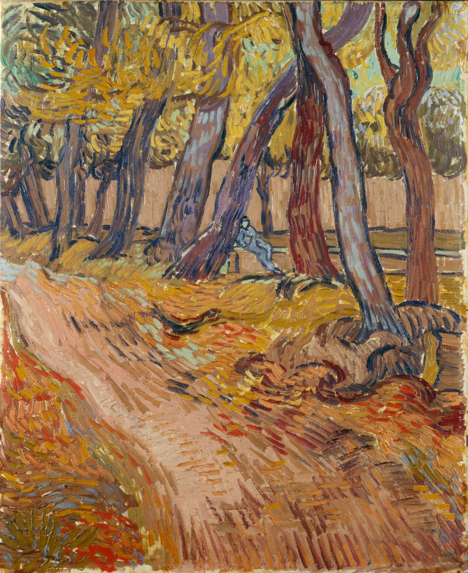 Vincent van Gogh - Path in the garden of the Asylum, 1889