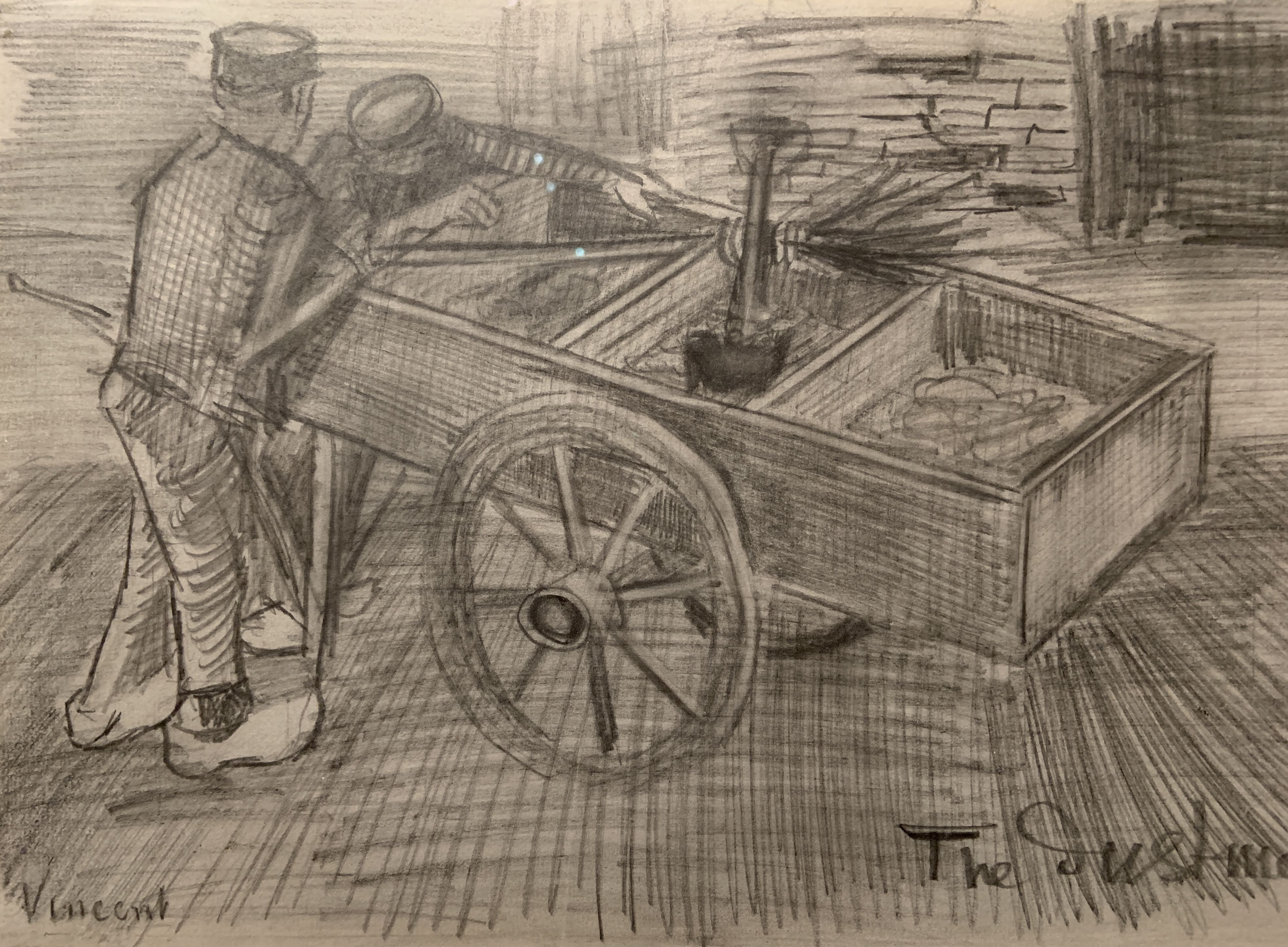 Vincent van Gogh - The Dustman. The Hague, 1883