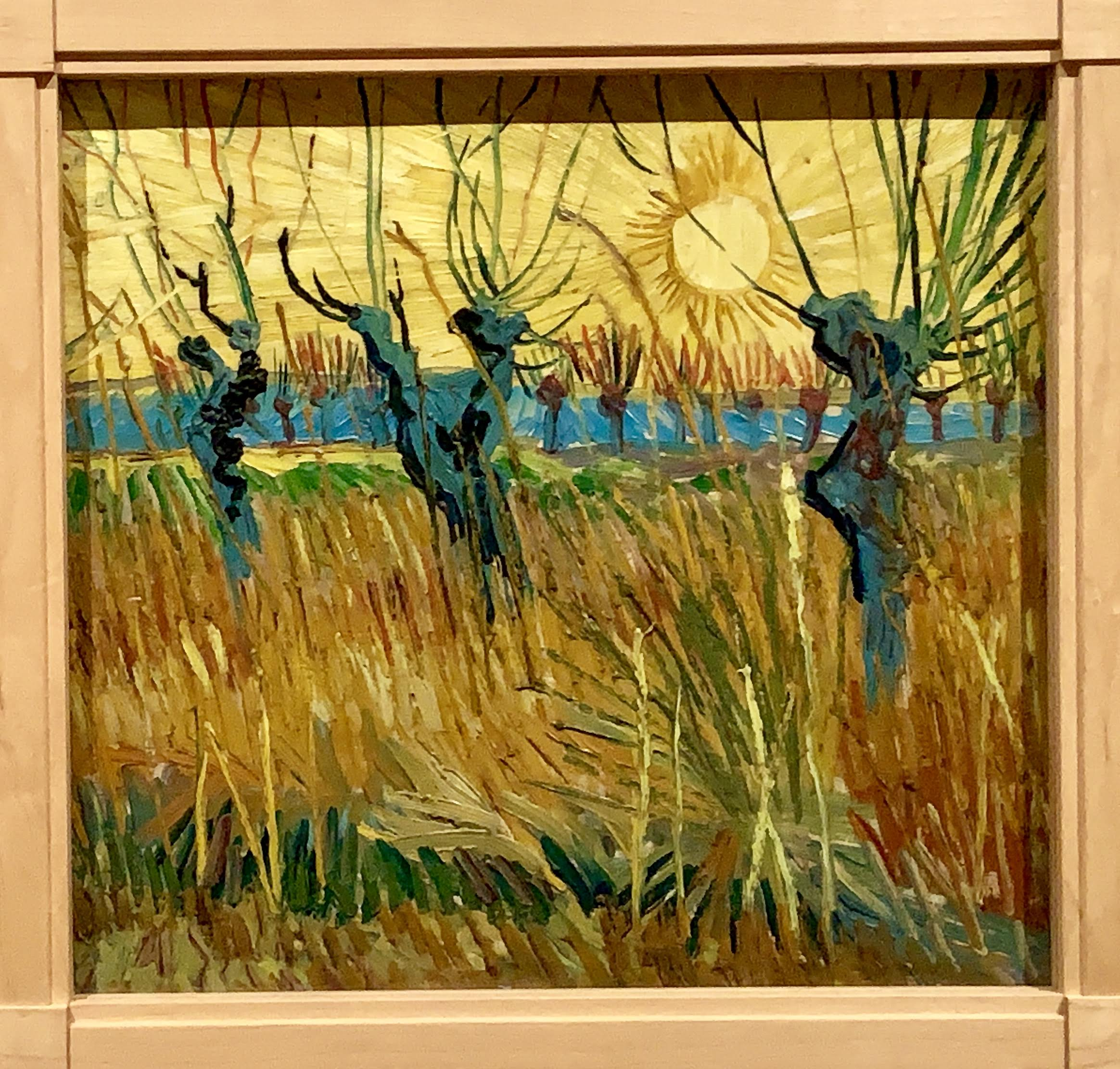 Vincent van Gogh - Pollard willows at sunset, 1888